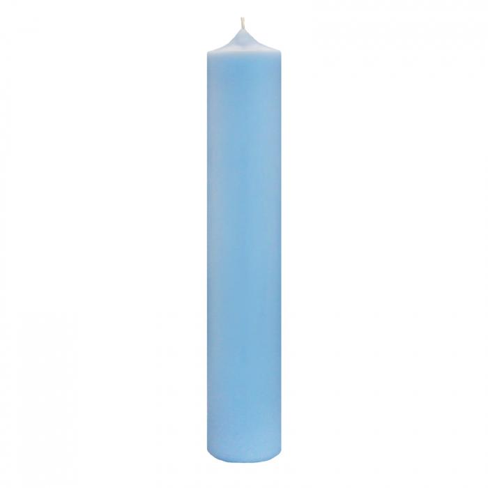 Lumanare Botez Albastra H35cm D5,5cm [0]