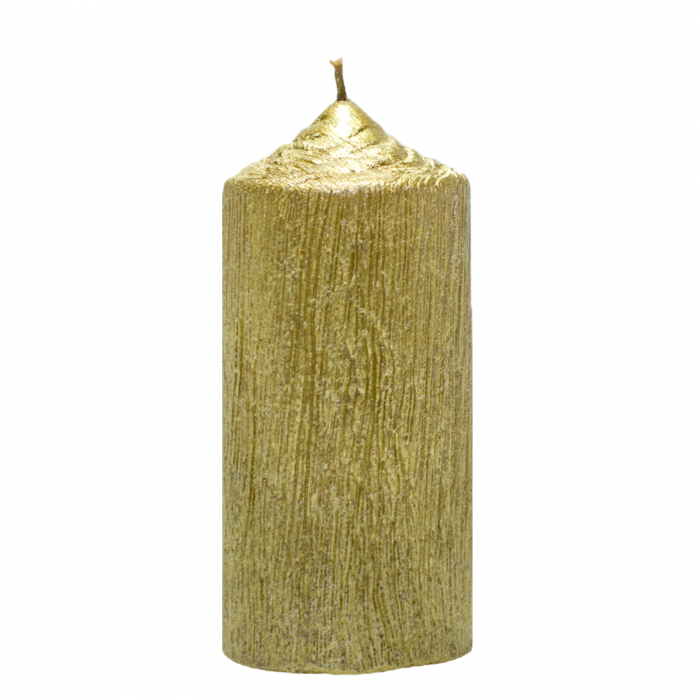 Lumanare Aurie cilindru H13cm [0]