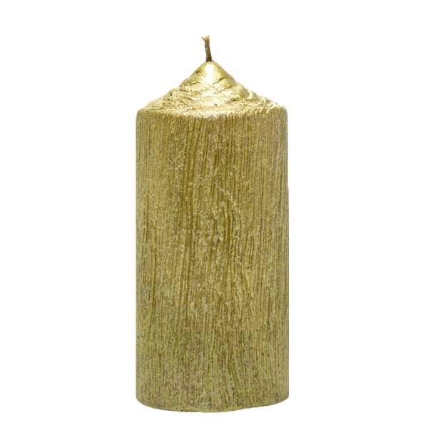 Set 4 Lumanari Aurii cilindru 13cm 2
