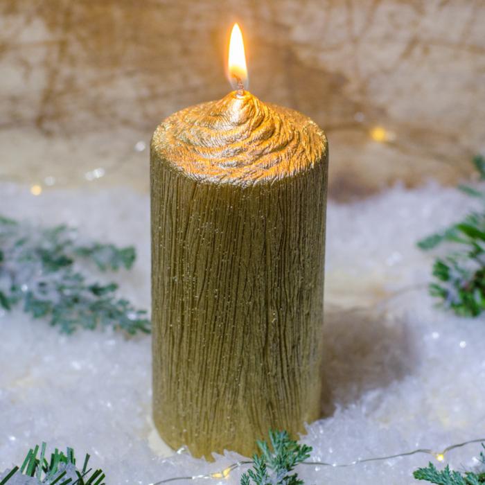 Lumanare AURIE , cilindru 13 cm 1