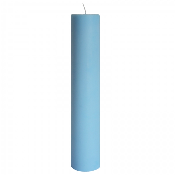 Lumanare Botez Albastra H40cm D5,5cm 0