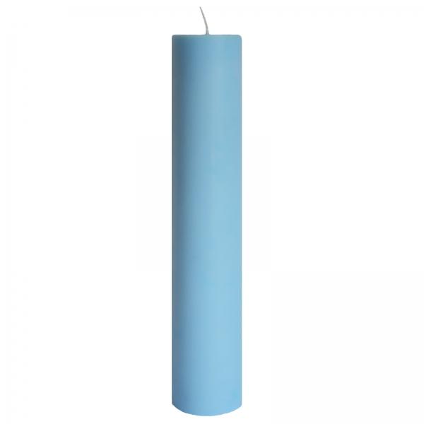 Lumanare Botez Albastra H35cm D7cm 0