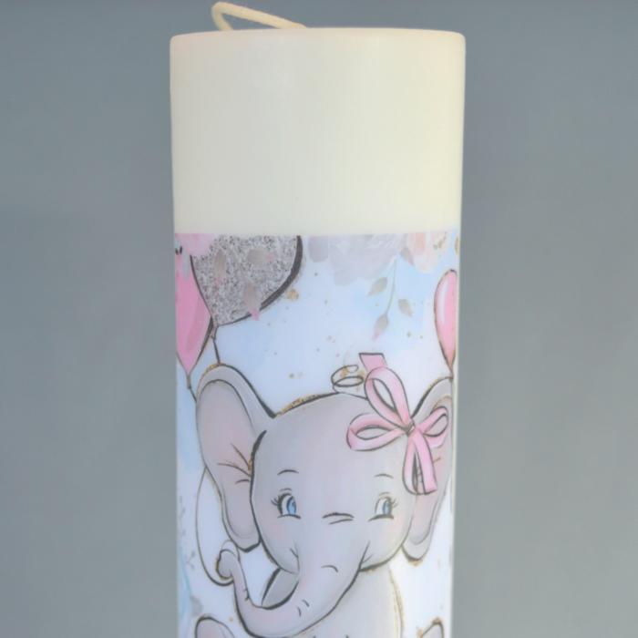 Lumanare Botez Elefant H40cm D5,5cm [2]