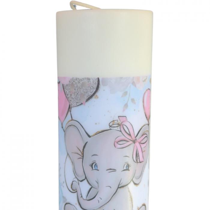 Lumanare Botez Elefant H40cm D5,5cm [1]