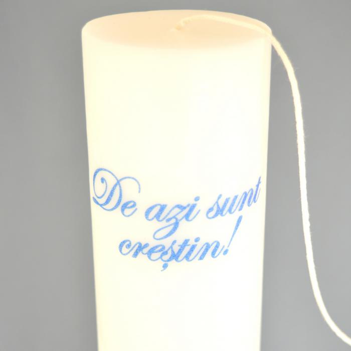 Lumanare Botez Baieti cu mesaj H25cm D5,5cm [2]