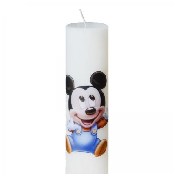 Lumanare Botez Baby Mickey H40cm D7cm 1