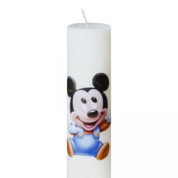 Bax 24 Lumanari Botez Baby Mickey H40cm D5,5cm 1