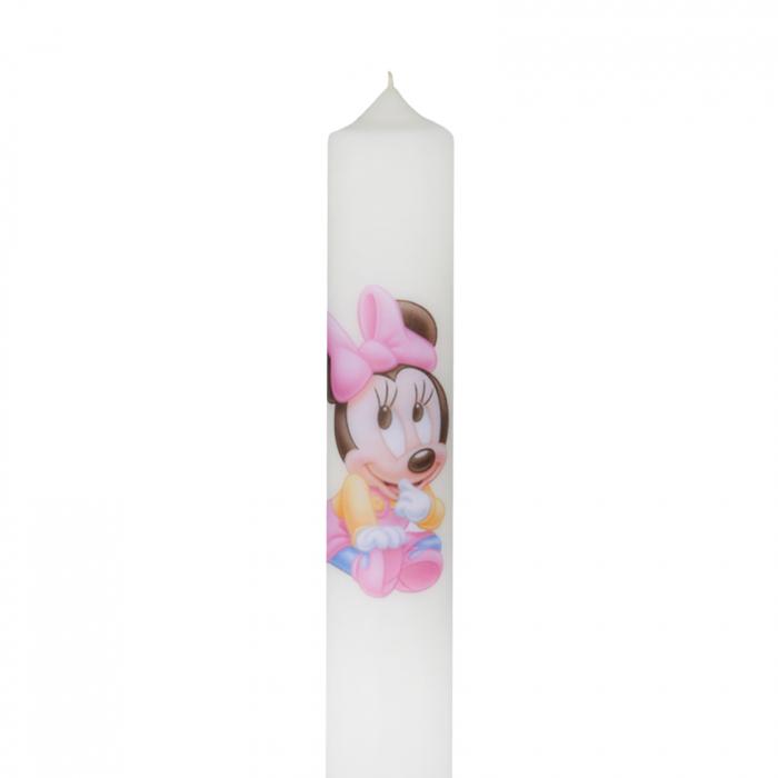 Lumanare Botez Baby Minnie H35cm D4,5cm 1
