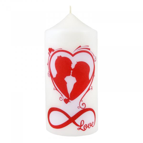 Bax 12 Lumanari Albe model LOVE, cilindru 13 cm 2