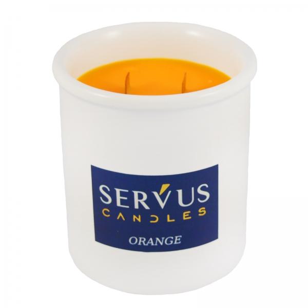 Bax 12 Lumanari Parfumate Orange cu 2 fitiluri din lemn 2