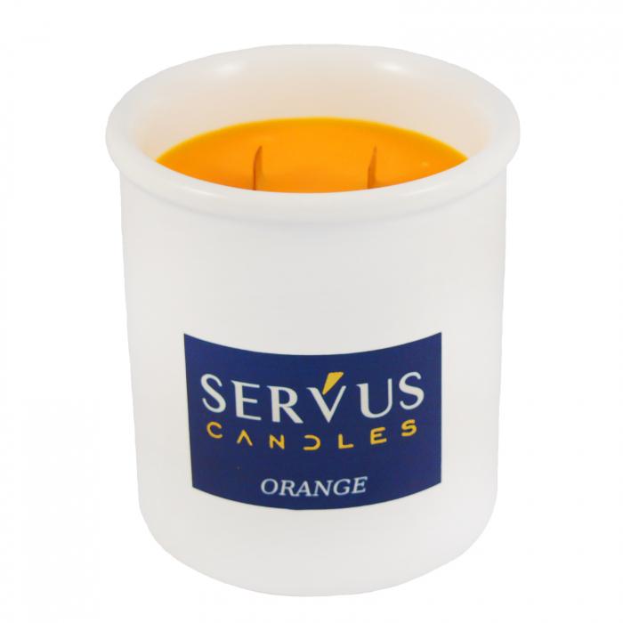 48 Lumanari Parfumate Orange cu 2 fitiluri din lemn 2