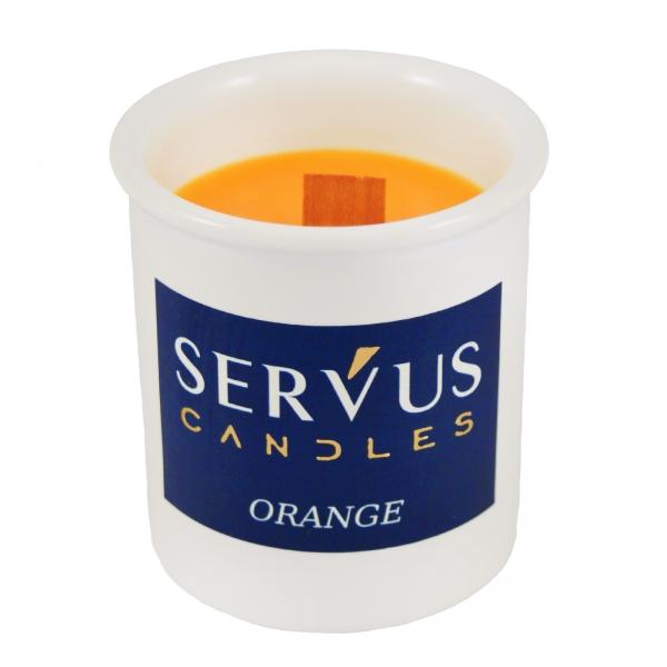 Bax 12 Lumanari Parfumate Orange cu fitil din lemn 2