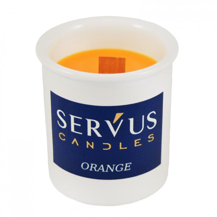 48 Lumanari Parfumate Orange cu fitil din lemn 2