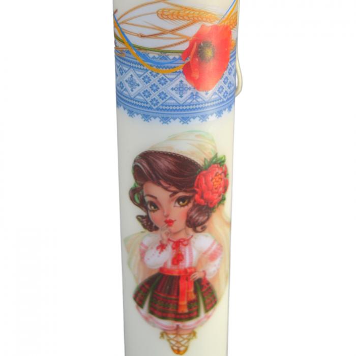 Lumanare Botez Traditionala Fete H40cm D5,5cm 1