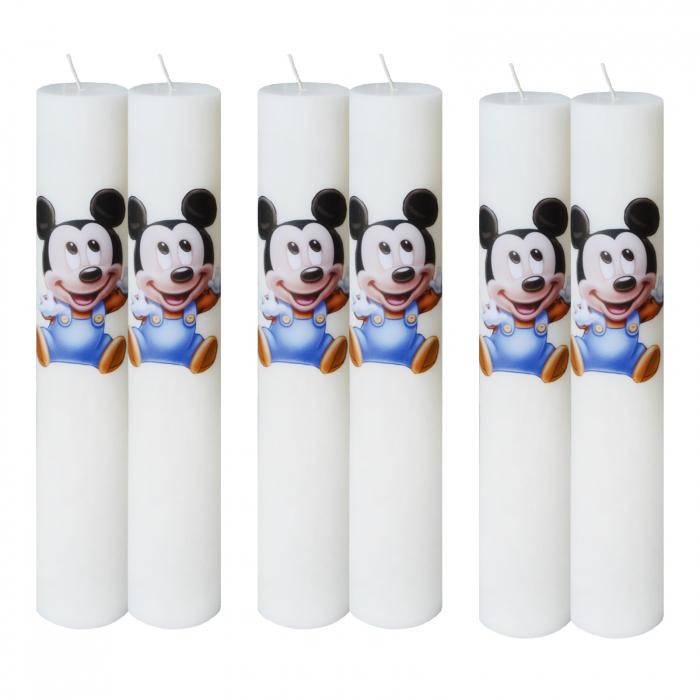 Set 6 Lumanari Botez Baby Mickey H35cm D45,5cm [0]
