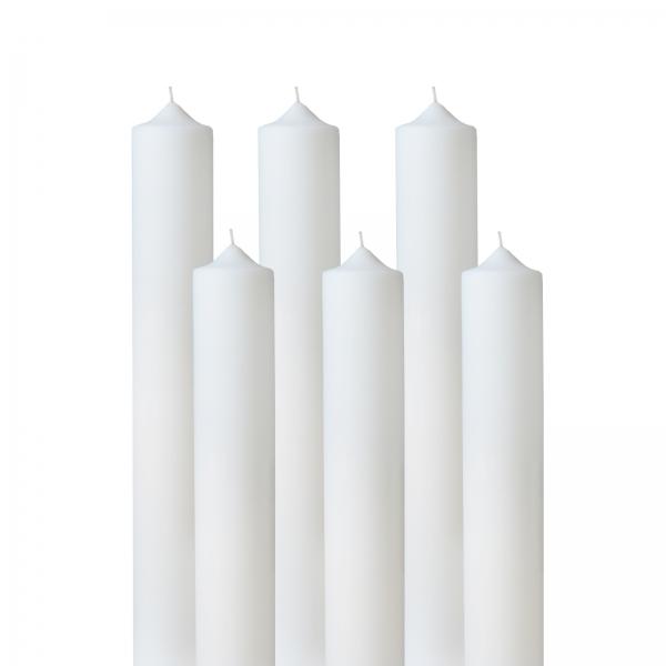 Set 6 Lumanari Nunta H35cm D4,5cm 0