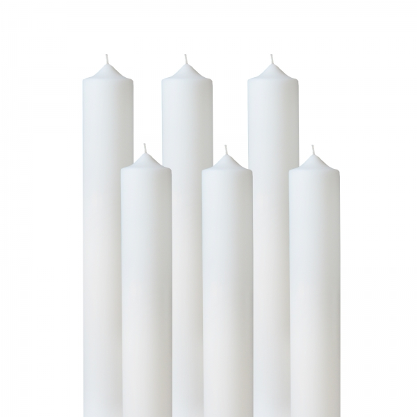 Set 6 Lumanari Botez H35cm D4,5cm 0