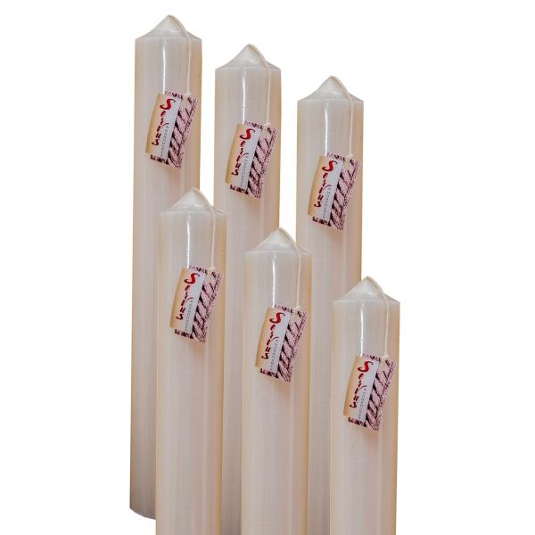 Set 6 Lumanari Botez H40cm D4,5cm 1