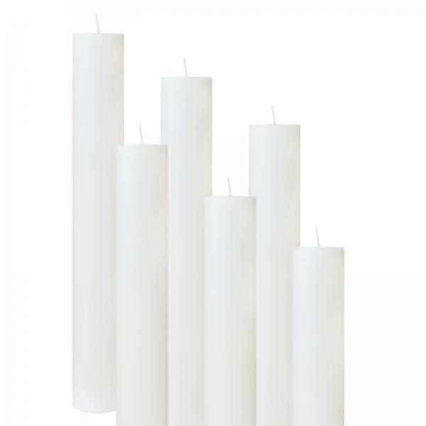 Set 6 Lumanari Botez H40cm D4,5cm 0