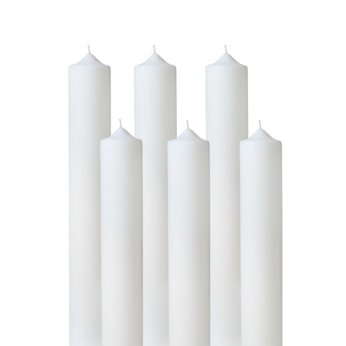 Set 6 Lumanari Nunta H40cm D4,5cm 2