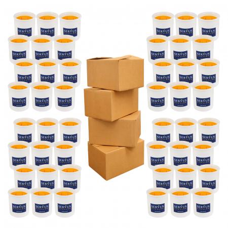 48 Lumanari Parfumate Orange cu 2 fitiluri din lemn1