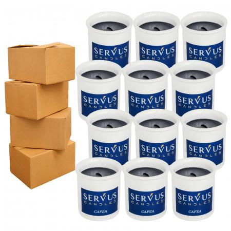 48 Lumanari Parfumate Cafea cu fitil din lemn [3]