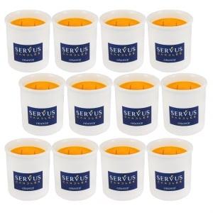 Bax 12 Lumanari Parfumate Orange cu 2 fitiluri din lemn1