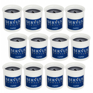 Bax 12 Lumanari Parfumate Cafea cu fitil din lemn [1]