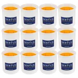 Bax 12 Lumanari Parfumate Orange cu 2 fitiluri din lemn0