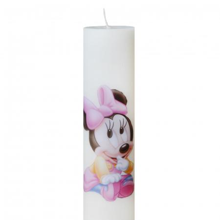 Bax 24 Lumanari Botez Baby Minnie H35cm D5,5cm1