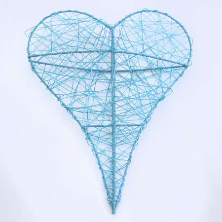 Inima decorativa mare, albastra0
