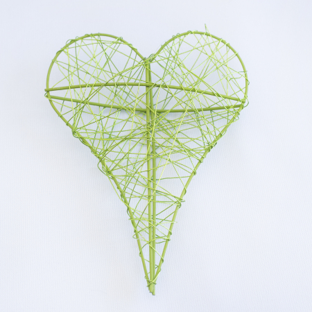 Inima decorativa mica, verde0