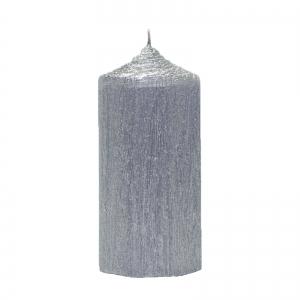 Set 4 Lumanari Argintii cilindru 13cm2