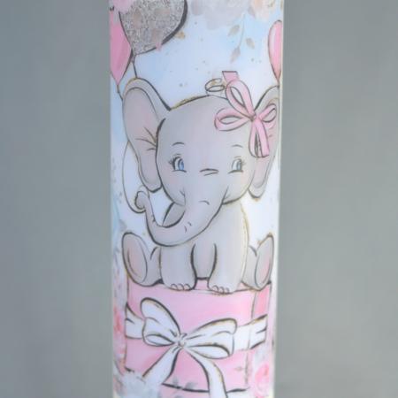 Lumanare Botez Elefant H40cm D5,5cm [3]