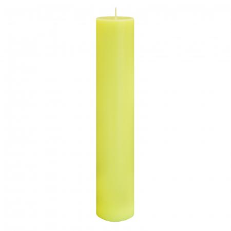 Lumanare Botez Galbena H35cm D5,5 cm0