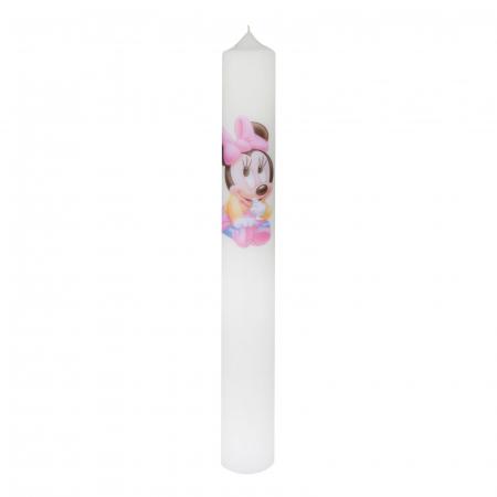 Lumanare Botez Baby Minnie H40cm D4,5cm0