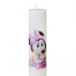 Set 6 Lumanari Botez Baby Minnie H40cm D7cm2