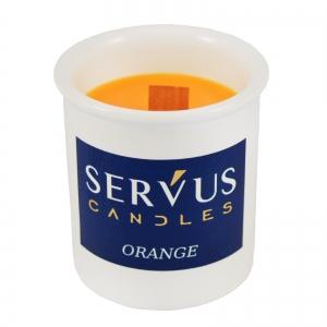 Bax 12 Lumanari Parfumate Orange cu fitil din lemn2