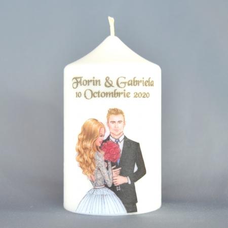 Marturie nunta H10cm N431