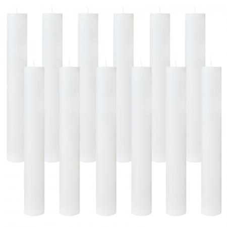 Set 12 Lumanari Botez Albe H30cm D4,5cm [0]