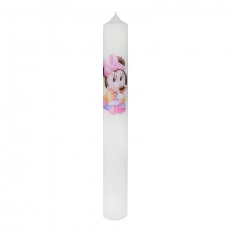 Set 6 Lumanari Botez Baby Minnie H35cm D4,5cm4