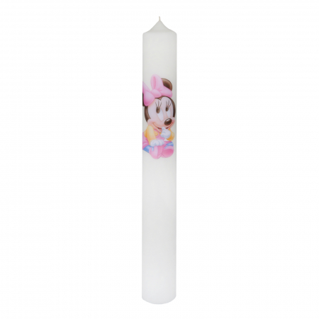 Set 6 Lumanari Botez Baby Minnie H40cm D4,5 cm2