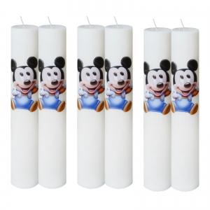 Set 6 Lumanari Botez Baby Mickey H40cm D5,5cm0