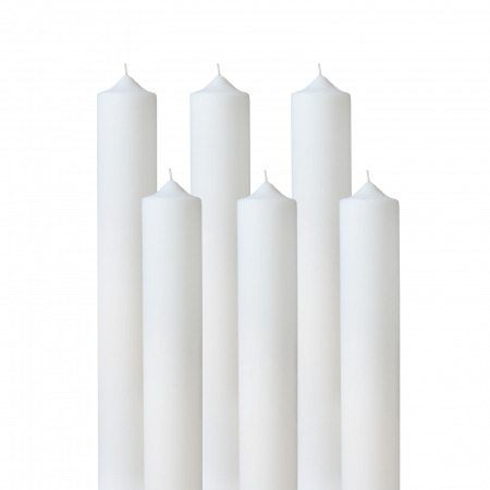 Set 6 Lumanari Nunta H40cm D4,5cm2