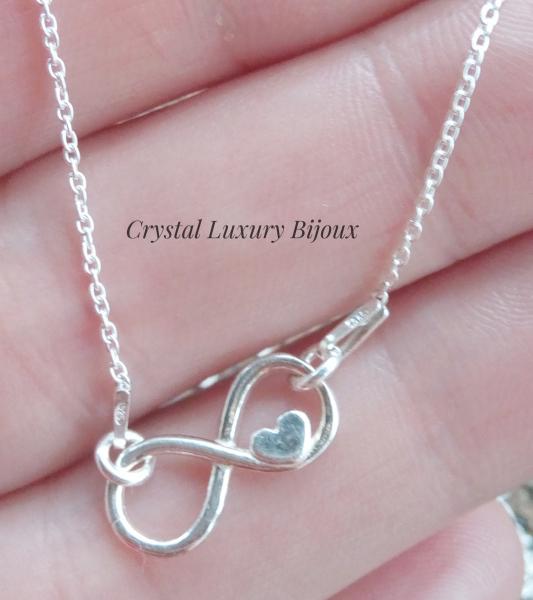 Colier argint infinit Love 1