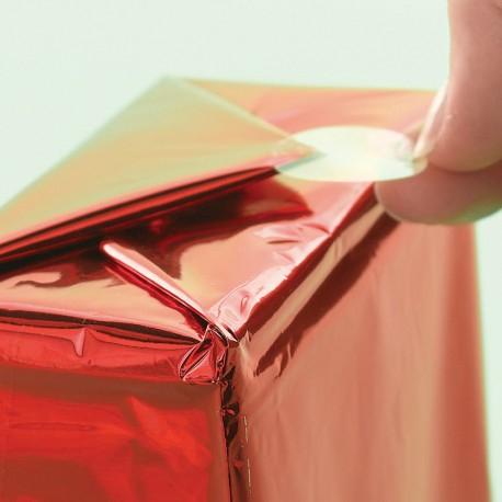 Autocolante transparente rotunde pentru cadouri 100 de autocolante 0