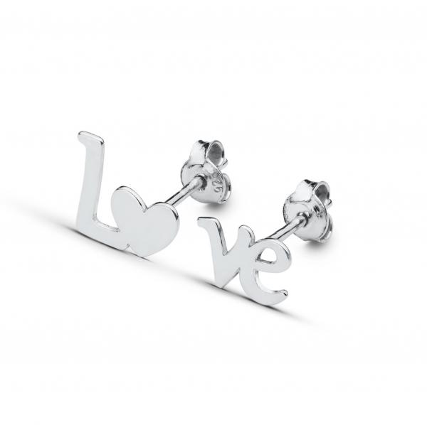 Cercei argint Love 0