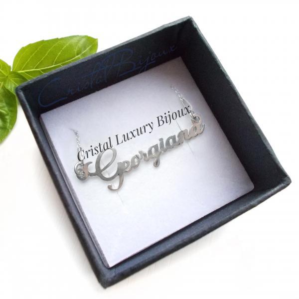 Lantisor personalizat din argint cu nume Georgiana 0