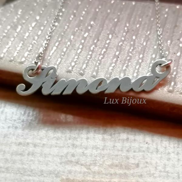 Lantisor personalizat din argint cu nume Simona [0]