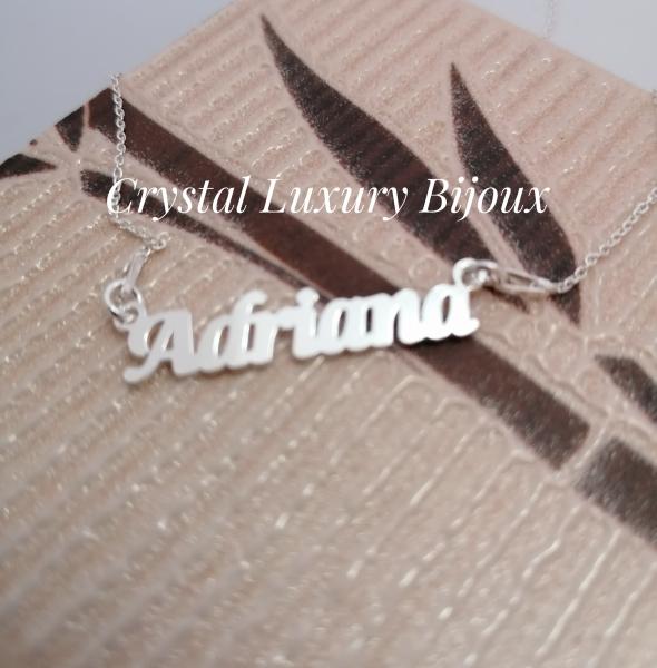 Lantisor personalizat din argint cu nume Adriana 1